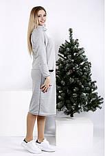 Сіре спортивне сукні великих розмірів, фото 2