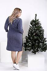 Модне плаття великих розмірів джинс, фото 3