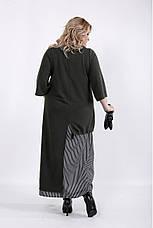Интересное платье больших размеров хаки, фото 3