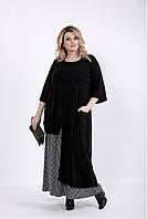 Черное длинное платье для полных женщин