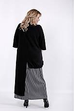 Черное длинное платье для полных женщин, фото 3