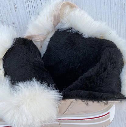 Ботинки женские зимние 8 пар в ящике бежевого цвета 36-41, фото 3