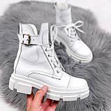 Ботинки женские Rebeca белые ДЕМИ 2445, фото 6