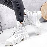 Ботинки женские Rebeca белые ДЕМИ 2445, фото 3