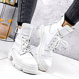 Ботинки женские Rebeca белые ДЕМИ 2445, фото 4