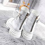 Ботинки женские Rebeca белые ДЕМИ 2445, фото 5