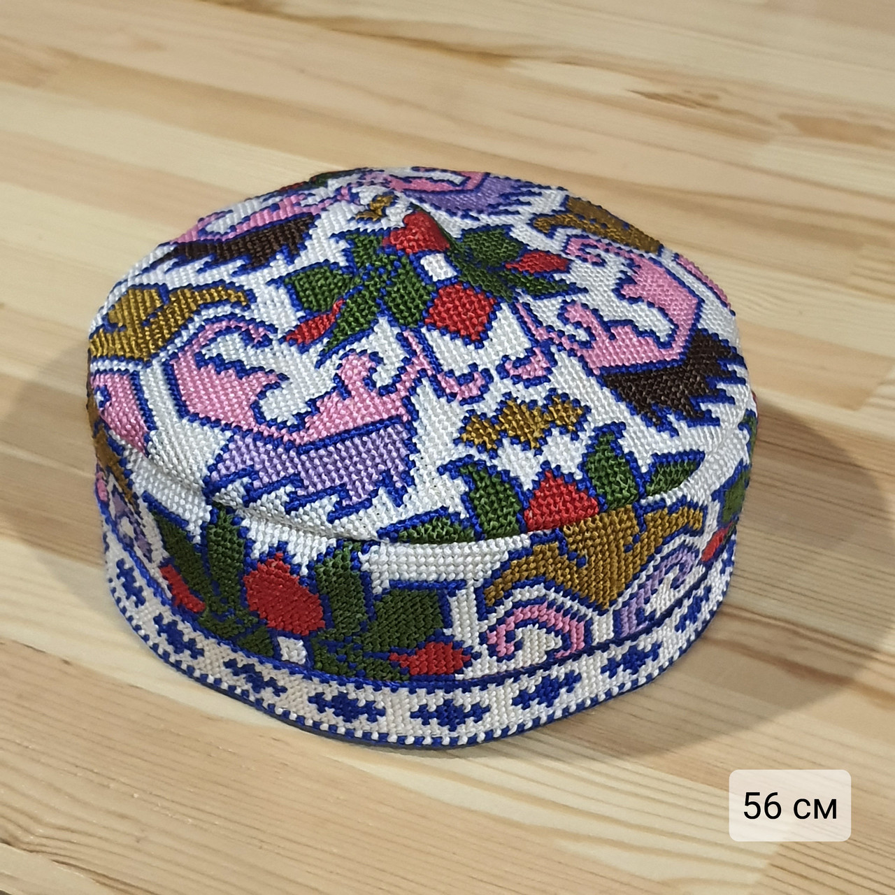 Узбекская тюбетейка 56 см. Ручная вышивка. Узбекистан (56_2)