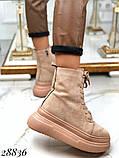 Ботинки женские зимние бежевые 28836, фото 3