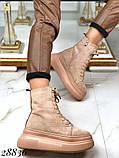 Ботинки женские зимние бежевые 28836, фото 5