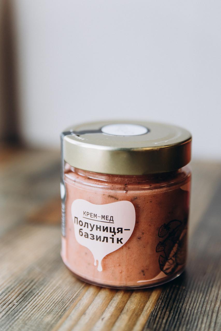 Крем-мёд натуральный / Клубника и базилик