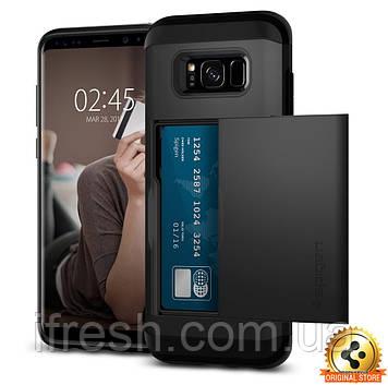 Чехол Spigen для Samsung S8 Plus Slim Armor CS, Black