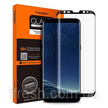 Защитное стекло Spigen для Samsung S8 GLAS.tR Full Cover (565GL21777)