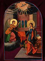 Икона Благовещение маслом на доске, размер:57.5*38 см.