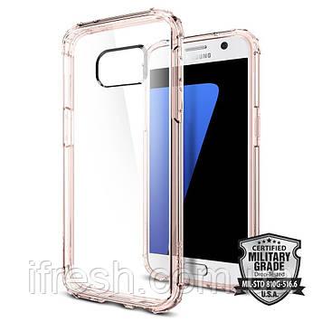 Чехол Spigen для Samsung S7 Crystal Shell, Rose Crystal