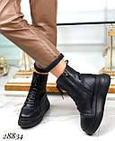 Ботинки женские зимние черные 28834, фото 4