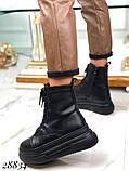 Ботинки женские зимние черные 28834, фото 2