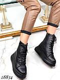 Ботинки женские зимние черные 28834, фото 5