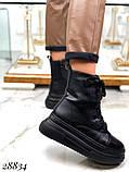 Ботинки женские зимние черные 28834, фото 7