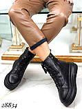 Ботинки женские зимние черные 28834, фото 6