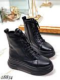 Ботинки женские зимние черные 28834, фото 8