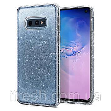 Чехол Spigen для Samsung Galaxy S10е Liquid Crystal Glitter, Crystal Quartz (609CS25834)