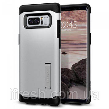 Чехол Spigen для Samsung Note 8 Tough Armor, Satin Silver