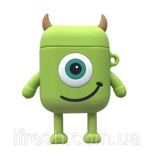 Чехол для Apple AirPods, силикон, Big eyes (Monsters)
