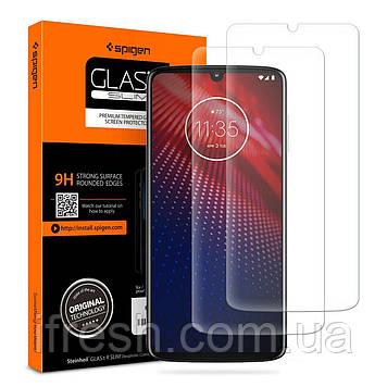 Защитное стекло Spigen для Motorola Moto Z4 GLAS.tR SLIM HD (2 шт), Clear (AGL00290)