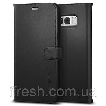 Книжка-Чехол Spigen для Samsung S8 Plus Wallet S, Black