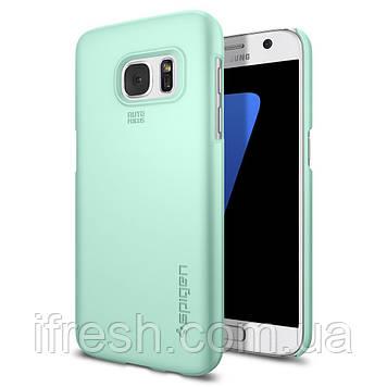Чехол Spigen для Samsung S7 Thin Fit, Mint