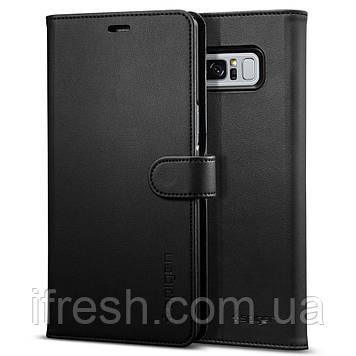 Книжка-Чехол Spigen для Samsung Note 8 Wallet S, Black