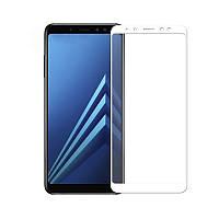 Захисне скло Glass Samsung A605 Galaxy A6 Plus 2018 9D white