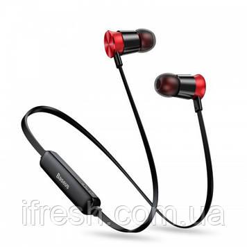 Наушники Bluetooth Baseus Sports Encok Earphone S07, Red+Black (NGS07-19)