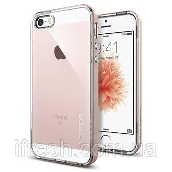 Чехол Spigen для iPhone SE/5S/5 Neo Hybrid Crystal, Rose Gold (041CS20183)