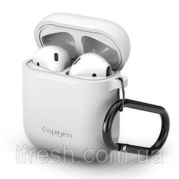 Чехол силиконовый Spigen для наушников Apple AirPods, White (066CS24809)