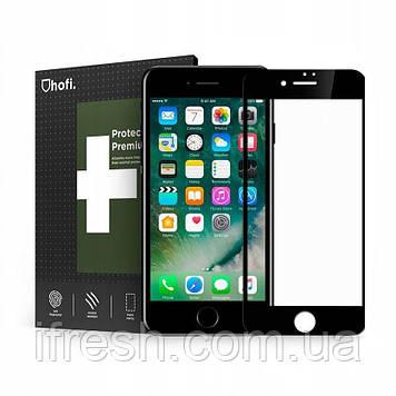 Защитное стекло, гибридное HOFi PRO +(FLEX HYBRID) для iPhone 8/7 Black