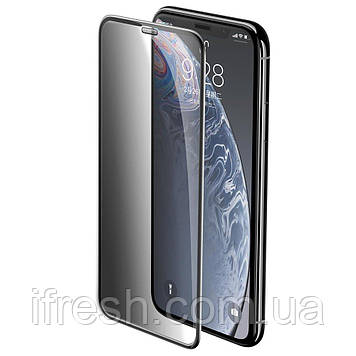 Защитное стекло Baseus для iPhone XR Curved Privacy, Black (SGAPIPH61-WC01)