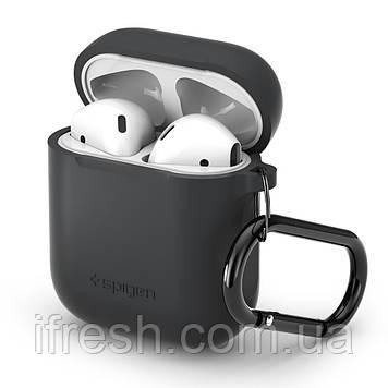 Чехол силиконовый Spigen для наушников Apple AirPods, Charcoal (066CS24811)