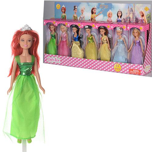 Кукла DEFA 8309, 22 см, 14 шт. (7 видов) в дисплее