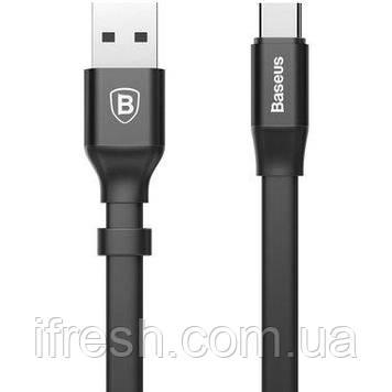 Кабель USB Baseus Type-C Nimble Portable 0.23m, Black (CATMBJ-01)