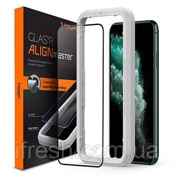 Защитное стекло Spigen для iPhone 11 Pro Max Glas.tR AlignMaster (1шт) Black (AGL00098)