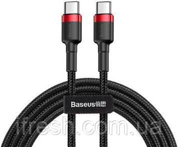 Кабель USB Baseus Cafule Type-C 3A 1m, Black+Red (CATKLF-G91)