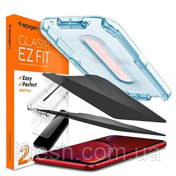 Защитное стекло Spigen для iPhone 11 / XR EZ FIT GLAS.tR Privacy, 2 шт. (064GL25687)