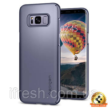 Чехол Spigen для Samsung S8 Plus Thin Fit, Orchid Gray