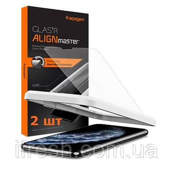 Защитное стекло Spigen для iPhone 11 Pro Max Align Master (2 шт) (AGL00097)