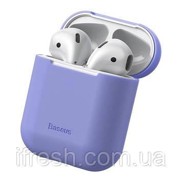 Чехол Baseus для Apple AirPods Super Thin Silica Gel, Purple (WIAPPOD-BZ05)