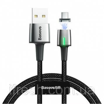 Кабель USB Baseus Zinc Magnetic Type-C 3A 1m, Black (CATXC-A01)