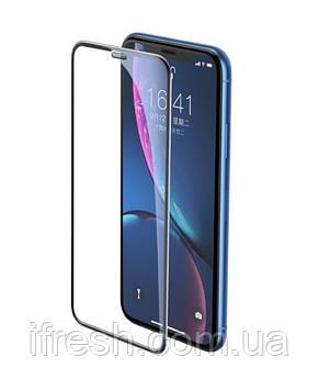 Защитное стекло 5D King Kong для iPhone 11 / XR с защитной сеткой на динамик, Black