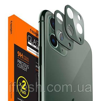 Защитное стекло на камеру Spigen для iPhone 11 Pro Max/11 Pro Camera Lens (2шт), Midnight Green (AGL00501)
