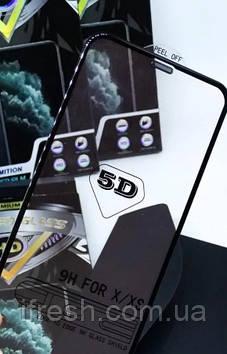 Защитное стекло для iPhone XS Max / 11 Pro Max 5D Premium HD PRO + сетка на динамик, Black